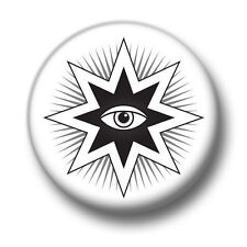 All Seeing Eye 1 Inch / 25mm Pin Button Badge Masonic Symbols Conspiracy Theory