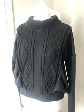 High Use by Claire Campbell Black Cable Knit/Tech Sweater