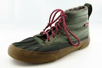 VANS Size 8.5 M Green Lace Up Fashion Sneakers Leather Wmn Shoe
