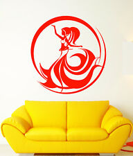 Vinyl Wall Decal East Arabic Belly Dance Dancer Girl Abstract Stickers (2156ig)