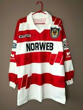 Wigan Warriors Rugby 1990's Home Vintage Ellgren Long Sleeve Jersey Shirt size M