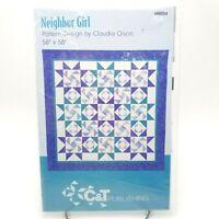 Quilt Block Pattern Geometric Next Door Neighbor Diamond Girl 58 x 58 inch