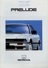Honda Prelude Prospekt 1985 Autoprospekt 1701050 Broschüre Auto brochure car