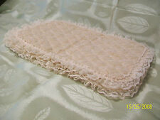 """4 Cream Color Lace Quilted Cloth Placemats - 19"""" x 13 1/2'"""