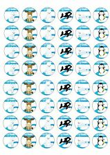 48 Animals Artic Wafer / Rice Paper Mini Cupcake Topper Fairy Cake Bun Toppers