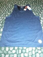 New M And S Mens Running Exercise vest Top Blue Size Large