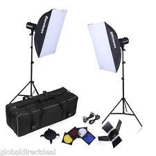 1000W Studio Photo Strobe Continuous Lighting Kit Flash Light Softbox Triggers