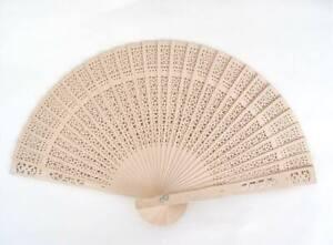 10 X Fan Pocket Hand Fan Wood Natural (10er)