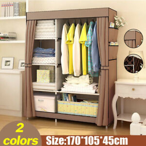 6 Drawer Folding Clothes Storage Closet Cabinet Organizer Shelf Wardrobe Rack
