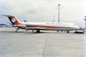 Dan-Air, BAC One Eleven 531FS, G-BJMV at Gatwick, Jun 1991; original photo