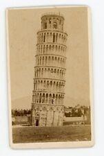 PHOTO CDV c.1870 Van Lint PISA, la tour penchée