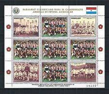 PARAGUAY 1986 MINI SHEET ** SOCCER WORLD CUP