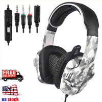 Sades Gaming Headset Stereo Bass Headphones 3.5mm w/Mic for PS4 Xbox one PC