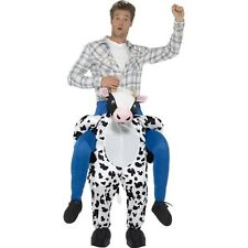 Cow Costume PIggy Back Mascot Ride On Animal Adult Fancy Dress
