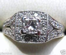 .75 Ct 14k Natural Princess Diamond Ring Vintage Inspired Halo Fred Meyer