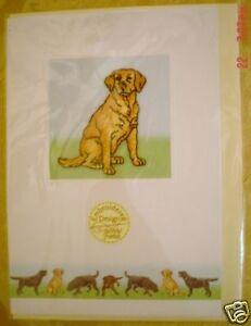 Lovely Yellow Labrador Blank Greeting Card