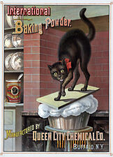 AD18 Vintage 1885 Baking Powder With Cat Advertisment Poster A4
