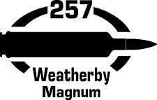 257 Weatherby Mag  gun Rifle Ammunition Bullet exterior oval decal sticker car
