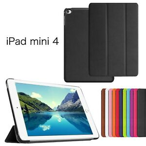 ES SMART PREMIUM PU LEATHER THIN CASE COVER FOR ALL APPLE iPad MINI 4 7.9' BLACK