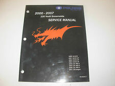 2000-2007 Polaris 120 Snowmobile Factory Service Manual with CD , p/n 9920517