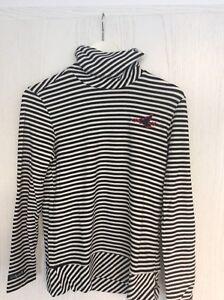 Honma Morley Mole Fleece Rollkragen Pullover Damen Größe L in Schwarz – Weiß NEU