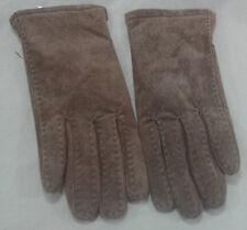 Chocolate Brown Leather Gloves Winter Warm Retro Soft Antique Vtg