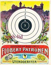 Originale Schießscheibe Vorkrieg Flobert Patronen     ( 4 )