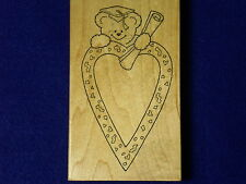 DARCIES Bear T-4957 Graduation Diploma Hat project window card Rubber Stamp