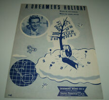 "PERRY COMO 1949 vintage sheet music ""A DREAMER'S HOLIDAY"" by MABEL WAYNE"