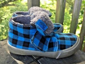 COOKIE for VANS Checkerboard LUMBERJACK Plaid Daddy Boot Shoes Sz 6 Toddler 👣b3