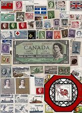 vintage MINT FULL GUM CANADA Canadian postage stamps lot C043 MNH + 1954 note