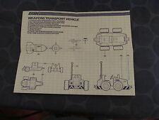 G I Joe ARAH vintage Weapons Transport vehicle blueprints only