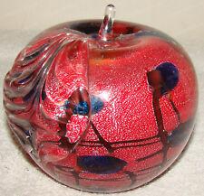 Cristalleria D'Arte Murano Glass Apple (5in) Ann Primrose Collection, Italy