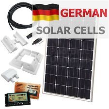 100W 12V dual battery solar charging kit /100 watt panel (camper motorhome boat)