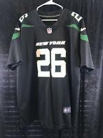 NFL New York Jets Le'Veon Bell #26 Black & Green XL Jersey Nike On Field