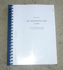 Handbuch Service Manual Rohde & Schwarz ED10/81 Schematics Schaltpläne