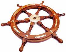 36 Brass Anchor Ship Wheel Wooden Captains Wheel Pirates Wall Decorative  Big