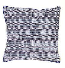Nina Campbell Home Luxury Cotton Pillowcase Euro Sham Blue White Chevron Print