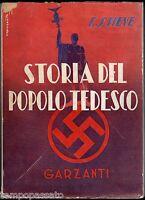 Germania - STORIA DEL POPOLO TEDESCO - STIEVE, CODOGNATO - GARZANTI 1941