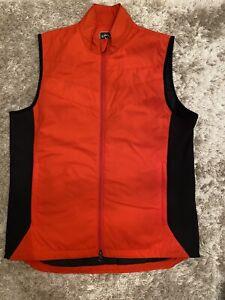 Callaway Red Gilet Waistcoat Bodywarmer Vest Black Pockets Golf Jacket