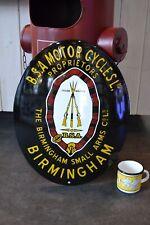Plaque émaillée BSA motor cycle 50*40 cm enamelled plaque