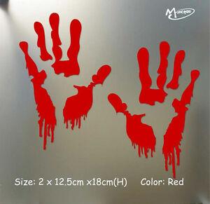 Reflective Bloody Zombie Hand Car Truck Vehicle Window Decal  Sticker Halloween-