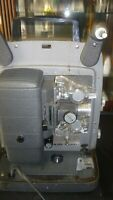 Vintage Bell & Howell Auto Load 8mm Film Projector Model 245 W Box & Splicer
