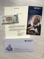 New listing JACK NICKLAUS - GOLF - ORIGINAL SIGNED £5 BANK NOTE - WITH COA