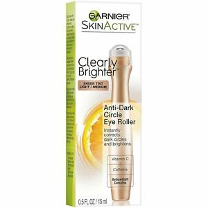 Garnier Skin Renew Anti-Dark Circle Eye Roller Light to Medium | 0.5Fl Oz | 4 PK