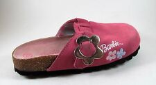 BARBIE pink LEATHER CLOGS 13 little girls  2003 slip-ons RARE