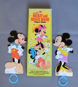 Vintage Walt Disney Mickey and Minnie Paper Dolls NIB