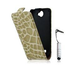 Housse étui coque style crocodile pour Galaxy W i8150 + mini stylet