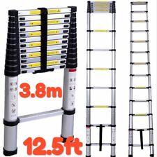 Telescopic Folding Ladder Aluminiam 3.8M12.5ft Extendable Multi Purpose Step
