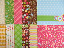 """12 sheets  DCWV 12x12"""" Scrapbook Backing Papers - Blossoms & Butterflies set B"""